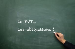 Les obligations du PVT