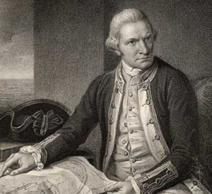 James Cook, découverte de l'Australie